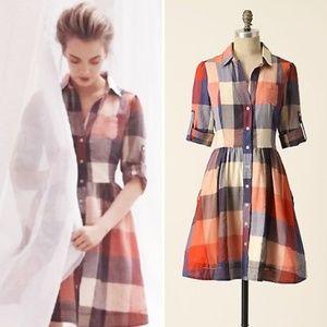 Anthro Moulinette Soeurs Reed Shirtdress Size 0